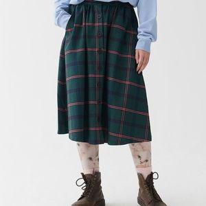 Lazy Oaf Plaid Green Skirt